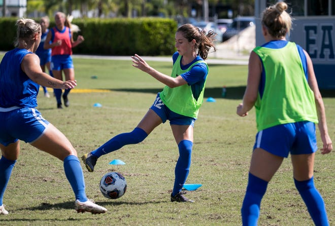 Zoey Spitzer will train with her FGCU soccer teammates in 2019. The senior defender is an all-conference preseason election and a graduate of Gulf Coast High School. She is one of several Southwest Florida players on the team entering the 2021 spring season, which begins Sunday.