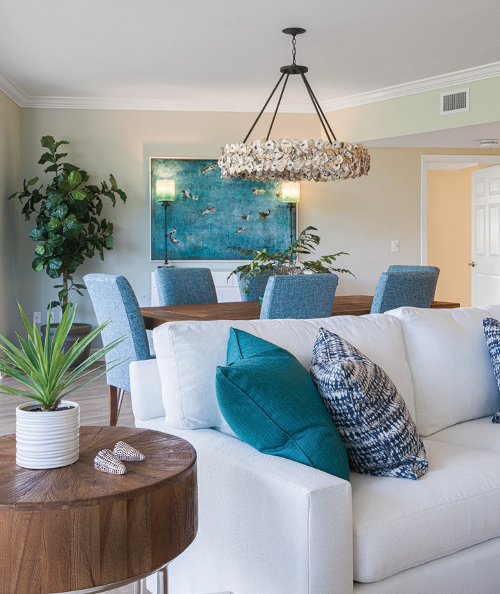 """Angela DiFranceisco worked with residents of Shell Point to impart a """"fresh, fun beach style"""" to their retirement home. """"I wanted them to feel like they could kick their sandals off, relax and make themselves at home,"""" the designer says. SHELL POINT / COURTESY PHOTO"""