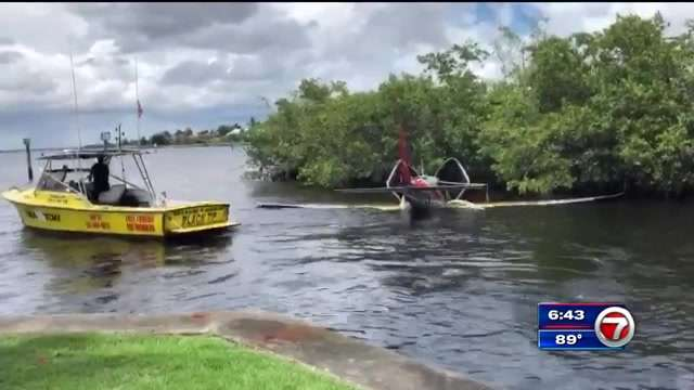 Flight instructors, students parachute and land on a river near Fort Myers - WSVN 7News | Miami News, Weather, Sports