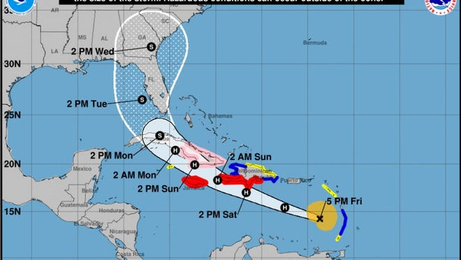 Follow the storm's path and its possible impact on Fort Myers
