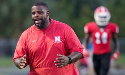 North Fort Myers High School's head football coach Dwayne Mack leads the Red Knights against Port Charlotte on Friday in Port Charlotte. Port Charlotte beat North 22-9.