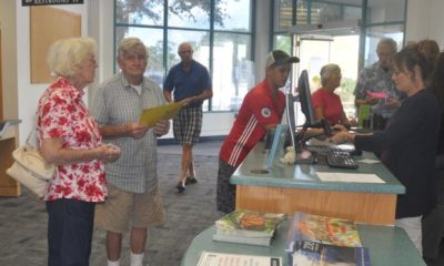 Patrons flocked to the Bonita Springs Public Library when it opened for the first time since Hurricane Irma struck in 2017. Bonita's public library closed for about three months so that Lee County could repair hurricane damage the building sustained.