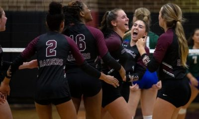 Riverdale, Canterbury, Fort Myers, Barron, South, SFCA, Cape Coral volleyball win