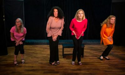 Marilyn Schweltzer, left, Christi Lueck-Sadiq, Patti Corsini-Caroli and Rose Curreri act out a scene from