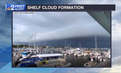 Shelf cloud spotted over Fort Myers Beach early Thursday