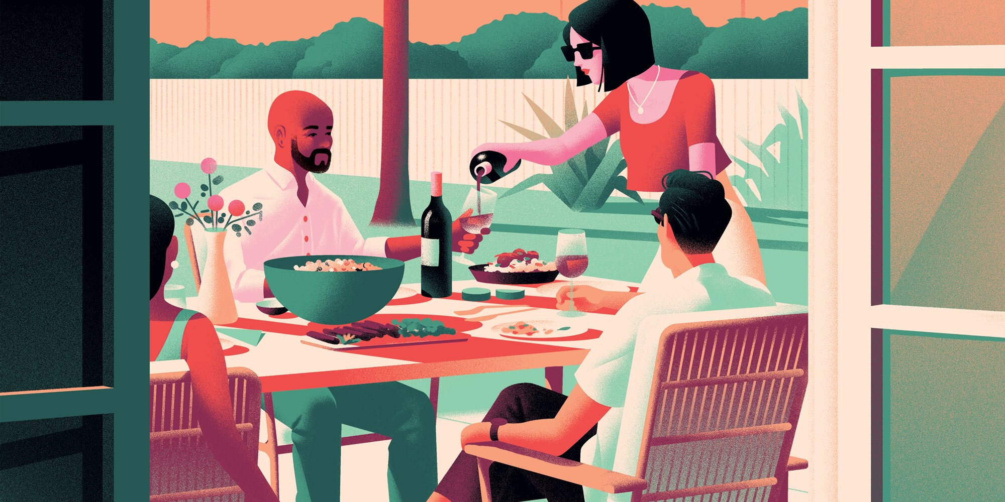 How to Plan a Long, Leisurely Lunch with Wine