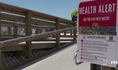 Wind directions can bring red tide toxins inland