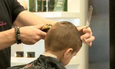 A local barbershop providing free haircuts to student
