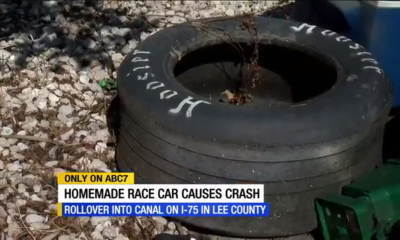 North Fort Myers teen seriously injured in I-75 crash involving homemade racecar