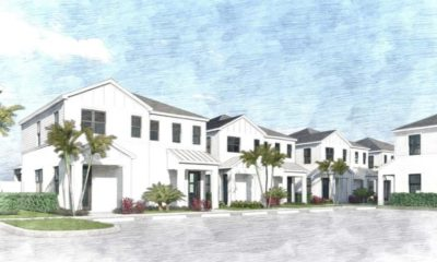Renderings of horizontal housing projects similar to Soltura on Terry Street, a planned community east of Interstate 75.