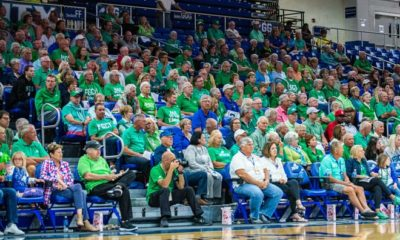 FGCU fans watched the Eagles beat North Florida in the ASUN semifinal game at Alico Arena on Thursday.