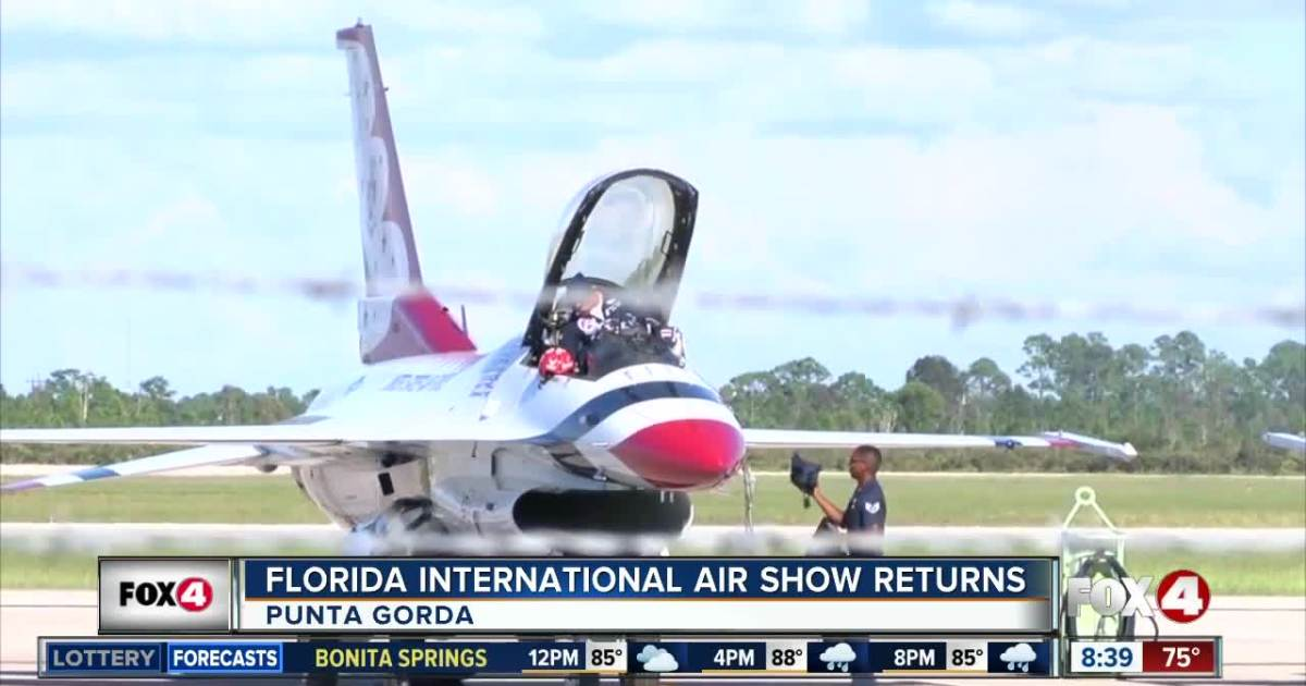 Thunderbirds arrive in Punta Gorda for air show this weekend