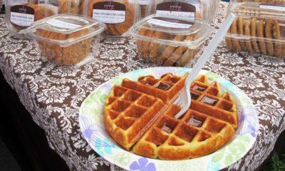 A gluten-free Belgian waffle from Epiphany Gluten Free Bakery in Naples.