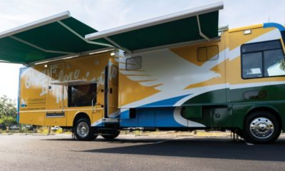 The Conservancy of Southwest Florida's mobile classroom features hands-on science learning tools including a high-powered microscope, a wet lab and more.