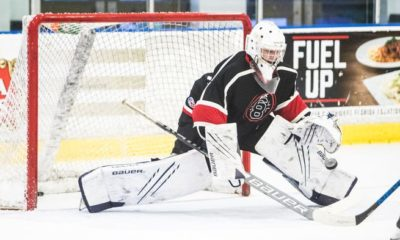 The 16-year-old hockey goalkeeper Michael Chambre will train in the Hertz Arena on Wednesday, August 25, 2021. He will travel to Michigan to be part of the US national hockey team. He's also committed to playing at Boston University in 2023.