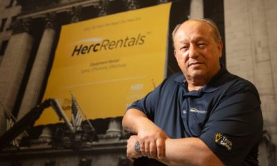Larry Silver, the President and Chief Executive Officer of Herc Rentals, poses for a portrait at the Herc Rentals Field Support Center in Bonita Springs, Florida on Wednesday, September 15, 2021.