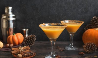 Pumpkin and spice martinis